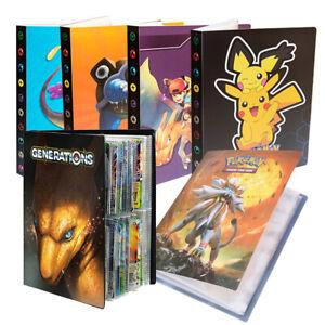 Pokemon Cards Album Book List Collectors Folder Pocket Capacity Holder 240Pcs