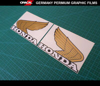 Pair Of old Honda Wings logo fuel tank Motorcycle Vinyl Decal sticker_3 Colors