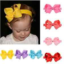 10pcs Cute Kids Baby Girls Headband Hair Band Bowknot Headwear Accessories