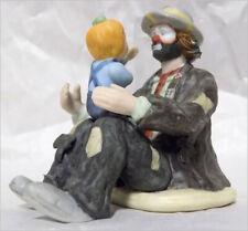 Emmett Kelly Miniature Collectible The Emmetts Fan Clown Figurine in Box w Coa