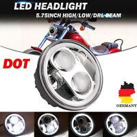 """5-3/4"""" 5.75"""" Rund LED Motorrad Hi/Lo Scheinwerfer Projektor DRL Für Harley Chrom"""