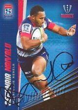 ✺Signed✺ 2017 MELBOURNE REBELS Rugby Union Card SEFANAIA NAIVALU Gold