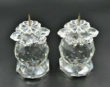 Swarovski Crystal European Candleholder Pair Unboxed Rare Item