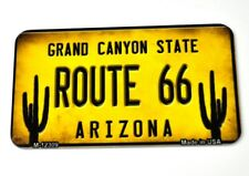 USA Arizona Grand Canyon Route 66 Magnet Blechschild License Plate Style gelb