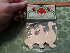 "Wood Cutouts 3 ducks unpainted for crafting - 4"" wide  x 3"" tall x 1/8"" thick"
