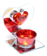 deko kerzenst nder teelichthalter aus glas mit herz schliffform g nstig kaufen ebay. Black Bedroom Furniture Sets. Home Design Ideas