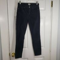 J. CREW Size 25 Black Stretch Skinny Leg Corduroy Pants Slacks Womens Trousers