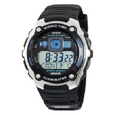 Casio AE2000W-1A Mens 200M Water Resistant Watch 5 Alarms World Time Stopwatch