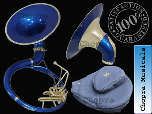 """SOUSAPHONE 22"""" Bb Flat Blue Color with Bag Mouth Piece Free 10/1"""
