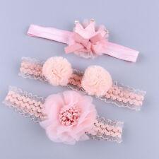 Headband Girl Baby Elastic Bow Lace Gift Hairband Set