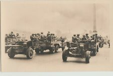Ww Ii Us Army Jeep Driven Field Artillery Liberation France Postcard photo press