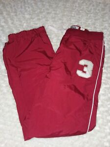 Place Children's Place sz 12 Youth Boy Red Nylon Athletic Pants Nwt Jersey lined