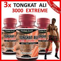 180 TONGKAT ALI CAPSULES 3000 EXTREME 200:1 ROOT EXTRACT MALE ENHANCEMENT PILLS