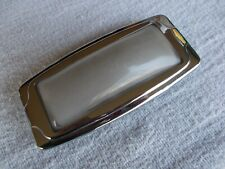Kaiser Frazer Dome Courtesy Lens Chrome Bezel Glass Convex 5-3/4 by 2-7/8 Inches