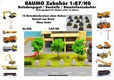 Nr.29A 12 Betonhindernisse ohne Haken 1:87/H0 Resin für Baufahrzeug Eisenbahn