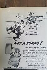 1949 Zippo windproof cigarette lighters heavy Chrome ad