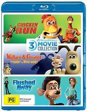 CHICKEN RUN/WALLACE & GROMIT CURSE OF WERE-RABBIT/FLUSHED AWAY Reg free Blu-ray