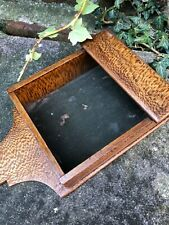 Antique Vintage Victorian rustic wood church Chapel collection offertory box Old