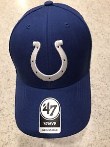 Indianapolis Colts 47 Brand Cap Hook & Loop Adjustable Blue MVP Hat NFL
