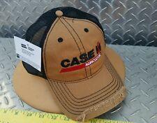 Case IH Brown black distressed bill mesh twill Cap Hat Trucker brand new licensd