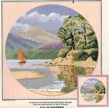 Heritage Stitchcraft CALM WATERS Cross Stitch Chart Only by John Clayton ~ lake