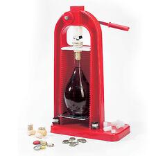 Tappatrice tappa bottiglie fiaschetti fiasco vino spumante tappi sughero nylon