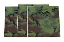 USAF Helmet Camouflage Film ERDL Camo Tape 8475-00-173-9054 Pack Of 3 Sheets