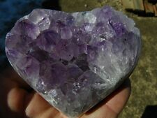 Amethyst Geode Heart from Brazil, 14.10 Oz.  Valentine, gift, display