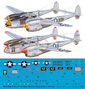 Peddinghaus 1/48 P-38J-15-LO Lightning Markings Richard Bong Pacific WWII 2466