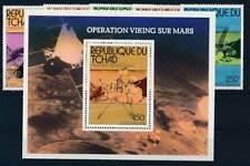 592117) Tschad Nr.747-751+Bl.66** Raumfahrt