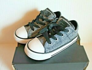 Converse Madison Ox 762334F Black & White Sneakers Shoes Toddler Size 8 NEW
