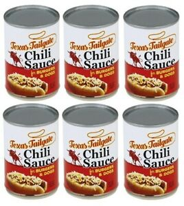 Texas Tailgate Chili Sauce 6 Can Pack