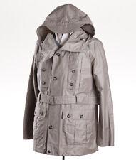 NWT $1075 EMPORIO ARMANI Stone Beige Hooded Field Jacket Parka L (Eu 52)