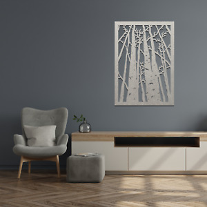 022 Beautiful Dried Forest Nature Hanging Metal Modern Contemporary Wall Art