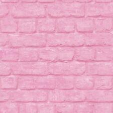 Rasch Urban Brick Effect Pink Wallpaper 226805