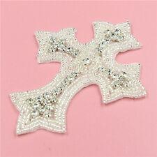 DIY Iron on Crystal Rhinestone Applique Bridal Wedding Diamante Sewing Craft