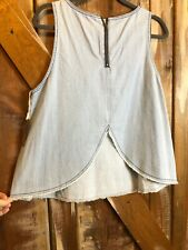 Hippie Laundry Chambray Ombre Light Wash Size L NWT Boho