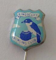 Kingscliff Bowling Club Pin Badge Blue Bird Lawn Bowls Rare (L11)