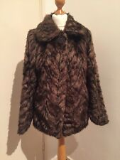 Gorgeous Faux Fur Jacket Red Herring Debenhams Size 10 Immaculate