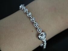 Chimento 18K White Gold Diamond Heart Link Lobster clasp Bracelet