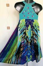 TUNIC DRESS 12 40 MEDIUM M PINAFORE SMOCK PEACE LOVE BOHO HIPPY QUIRKY FESTIVAL