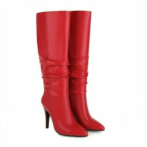 2022 Ladies Women Ladies Stilettos High Heel Pointy Toe Knee High Boots Pumps L