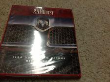 1994 Dodge Ram Truck Cummins DIESEL 1500 2500 3500 Technical Highlights Manual