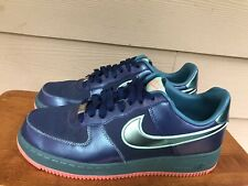 "Nike Air Force 1 Low ""Brave Blue Green Glow 488298-420 Men's Sneakers Size 8.5"