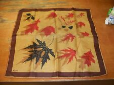 1940'S VERA NEUMANN PURE SILK  SCARF COINS AND DOLLAR SIGNS . HANDROLLED