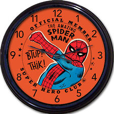 Spiderman Super Hero Club Wall Clock DC Comics Super Heroes Superpower New 10""