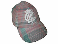 Rugby Ralph Lauren Polo Pink Blue Plaid Crest Embroidery Baseball Hat Cap