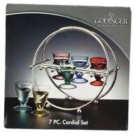 Godinger Silver Art Co. 7 Piece Cordial Set New in Box