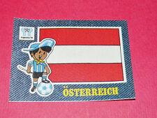 PANINI FOOTBALL 1978 ECUSSON JEAN DENIM ÖSTERREICH ARGENTINA 78 WC WM MUNDIAL