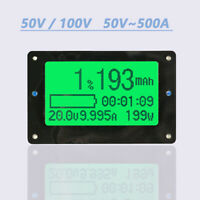 Coulomb Counter DC Volt AMP Power Meter Battery Monitor Capacity 50A-300A New